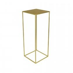 Deko-Sockel-Gold mieten-Sockeltisch-Blumentisch-Blumensockel-Miete-vermietung-tisch